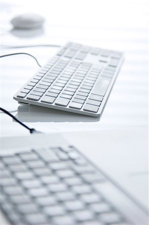selective focus computer no people - Close up of two computer keyboards Stock Photo - Rights-Managed, Code: 822-03485553