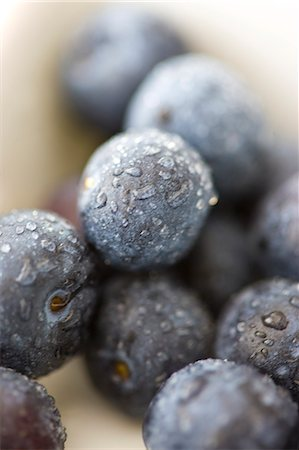 Extreme close up of blueberries Stock Photo - Rights-Managed, Code: 822-03485643