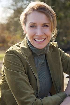 Close up of a woman smiling Stock Photo - Rights-Managed, Code: 822-03485665