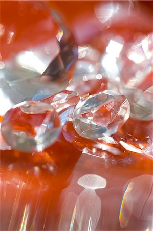 expensive jewelry - Extreme close up of large diamonds Stock Photo - Rights-Managed, Code: 822-03485660