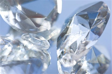 expensive jewelry - Extreme close up of large diamonds Stock Photo - Rights-Managed, Code: 822-03485662