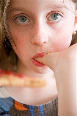 preteens fingering - Girl Sucking her Thumb Stock Photo - Rights-Managed, Code: 822-03602107
