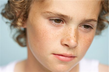 Blond Boy - Close-up view Stock Photo - Rights-Managed, Code: 822-03780642