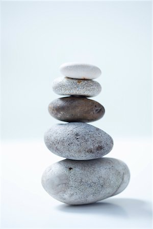 Stack of Various Size Pebbles Stock Photo - Rights-Managed, Code: 822-03780765
