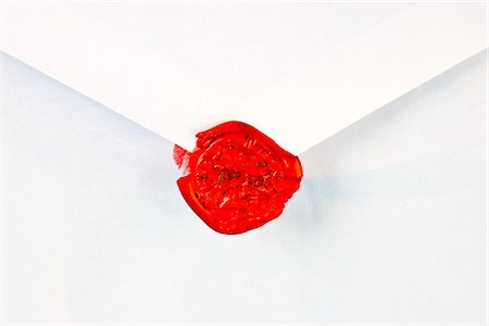 stamp (imprinted mark) - Broken Red Wax Seal Stock Photo - Rights-Managed, Code: 822-03780904