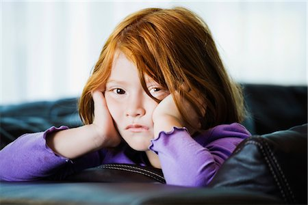 sad girls - Portrait of a girl with her head in her hands Stock Photo - Rights-Managed, Code: 837-02378652