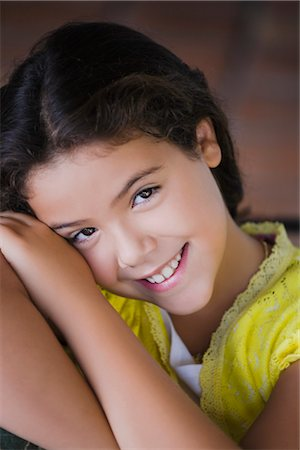 preteen  smile  one  alone - Portrait of a girl smiling Stock Photo - Rights-Managed, Code: 837-02380446