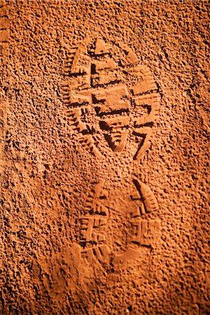 High angle view of shoe print in mud,Sedona,Arizona,USA Stock Photo - Rights-Managed, Code: 837-03069530