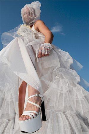 Low angle view of a gay bride,DuPont Circle,Washington DC,USA Stock Photo - Rights-Managed, Code: 837-03074022