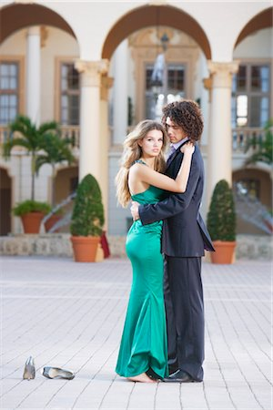 Side profile of a couple romancing,Biltmore Hotel,Coral Gables,Florida,USA Stock Photo - Rights-Managed, Code: 837-03074245