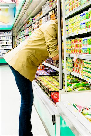 Woman shopping in a supermarket Stock Photo - Rights-Managed, Code: 837-03074323