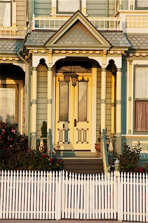 Facade of a Victorian style house,California,USA Stock Photo - Rights-Managed, Code: 837-03074330