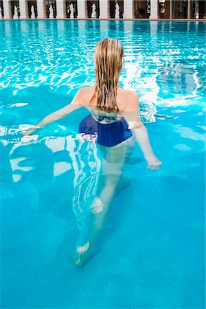 Woman in a swimming pool,Biltmore Hotel,Coral Gables,Florida,USA Stock Photo - Rights-Managed, Code: 837-03074524