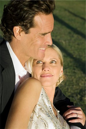 Close-up of a couple smiling,Biltmore Golf Course,Coral Gables,Florida,USA Stock Photo - Rights-Managed, Code: 837-03074919