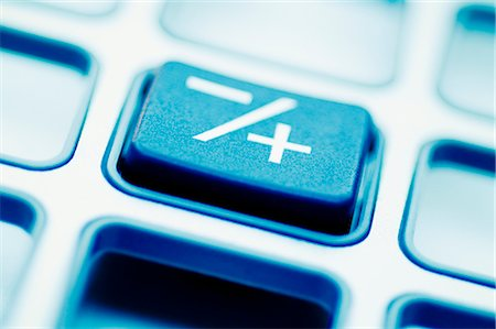 Close-up of the Plus-Minus button of a calculator Stock Photo - Rights-Managed, Code: 837-03070911