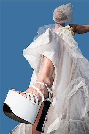 Low angle view of a gay bride,DuPont Circle,Washington DC,USA Stock Photo - Rights-Managed, Code: 837-03073281