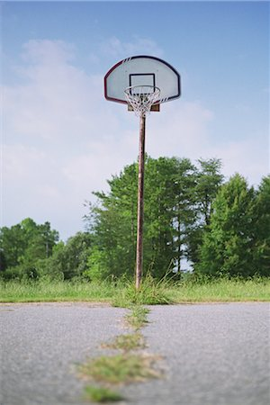 Basketball hoop in a park Stock Photo - Rights-Managed, Code: 837-03073409