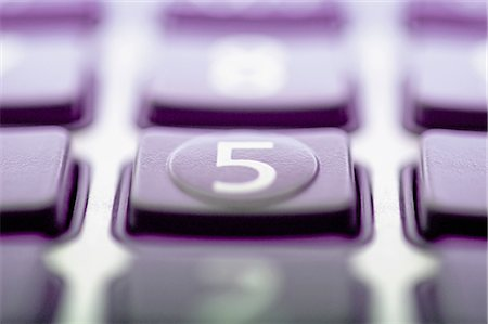 Close-up of a calculator keypad with focus on number 5 Stock Photo - Rights-Managed, Code: 837-03073795