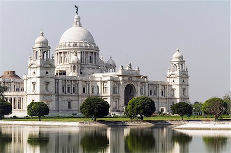 India, West Bengal, View of Victoria Monument; Kolcutta Stock Photo - Rights-Managed, Code: 832-08007639