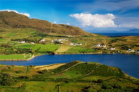 european hillside town - Small Fields at Kilcar, Co Donegal, Ireland Stock Photo - Rights-Managed, Code: 832-02254128