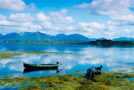 Fisherman, Roundstone, Connemara, Co Galway, Ireland Stock Photo - Rights-Managed, Code: 832-02254149