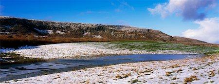 panoramic winter scene - Irish Winter Scenes, Co Clare, The Burren Stock Photo - Rights-Managed, Code: 832-02254314