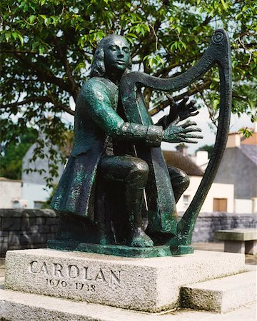 Co Leitrim, Carolan Statue, Mohill Stock Photo - Rights-Managed, Code: 832-02254555