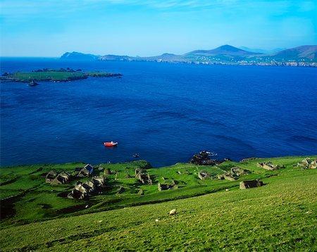 Deserted village, Blasket Islands Dingle Peninsula, Co Kerry, Ireland Stock Photo - Rights-Managed, Code: 832-02254786