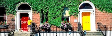 Dublin City, Georgian Doors Stock Photo - Rights-Managed, Code: 832-02254800