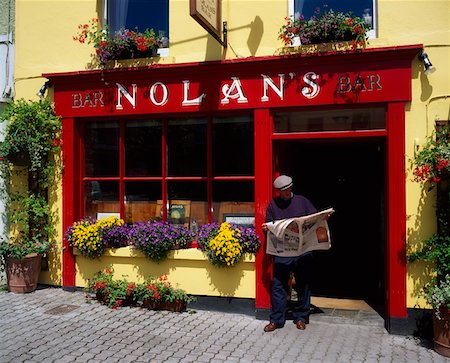 european bar building - Nolan's Bar, Rosscarbery, Co Cork Ireland Stock Photo - Rights-Managed, Code: 832-02254846