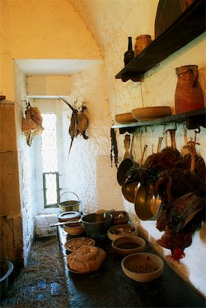 The Earl's Kitchen, Bunratty Castle, County Clare, Ireland; Historic interior Stock Photo - Rights-Managed, Code: 832-02255361