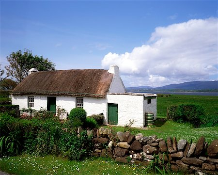 quaint - Thatched Cottage, St John's Point, Co Donegal, Ireland Stock Photo - Rights-Managed, Code: 832-02252674