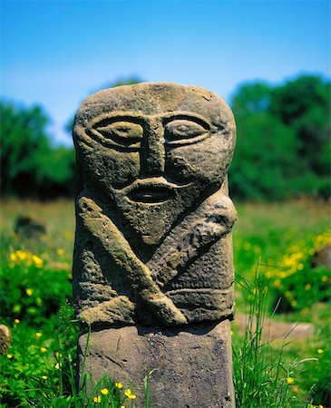 Janus Figure, Boa Island, Lower Lough Erne, Co Fermanagh, Ireland Stock Photo - Rights-Managed, Code: 832-02253405