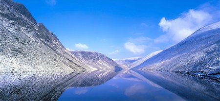 panoramic winter scene - Silent Valley Reservoir, Ben Crom Co Down, Ireland Stock Photo - Rights-Managed, Code: 832-02253536