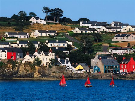 european hillside town - Co Cork, Kinsale, Summer Cove Stock Photo - Rights-Managed, Code: 832-02253971