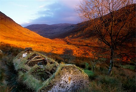 Struell Valley, County Donegal, Ireland; Cottage ruins Stock Photo - Rights-Managed, Code: 832-03232875
