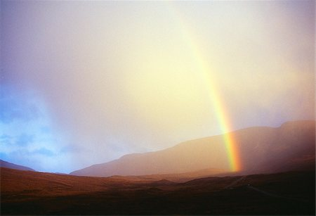 County Donegal, Ireland; Mist and rainbow Stock Photo - Rights-Managed, Code: 832-03232873