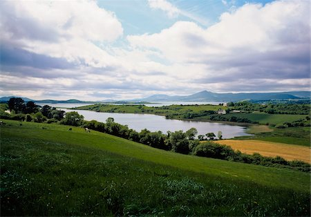 Ireland;  Field and lake Stock Photo - Rights-Managed, Code: 832-03233130