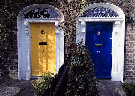 Dublin City, Ireland; Georgian style doorways Stock Photo - Rights-Managed, Code: 832-03233290