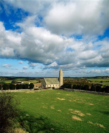 Co Down - Saul nr. Downpatrick, Church & Round Tower (1932), Site of St Pats First Church Stock Photo - Rights-Managed, Code: 832-03358785