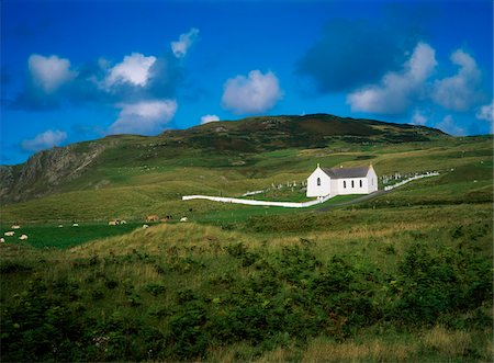 Church near Ballycramsy, Malin, Co Donegal, Ireland Stock Photo - Rights-Managed, Code: 832-03358837