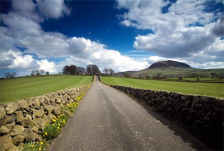 Country Road & Slemish Mtn, Co Antrim, Ireland Stock Photo - Rights-Managed, Code: 832-03358872