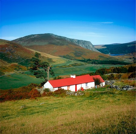 Traditional Cottages, Lough Dan, Co Wicklow Stock Photo - Rights-Managed, Code: 832-03359011