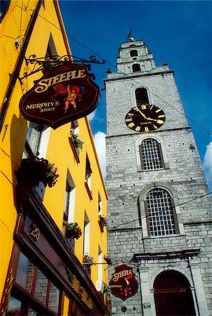 saloon - Shandon, Cork City, County Cork, Ireland; St. Anne's Church clock tower Stock Photo - Rights-Managed, Code: 832-03359126