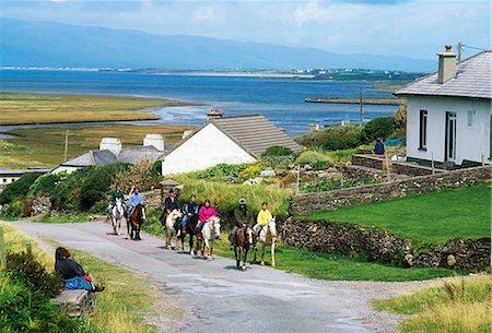 Glenbeigh, Co Kerry, Ireland; Pony Trekking Stock Photo - Rights-Managed, Code: 832-03639652