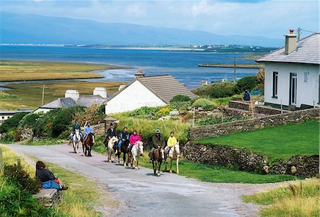 Glenbeigh, Co Kerry, Ireland; Pony Trekking Stock Photo - Rights-Managed, Code: 832-03639652