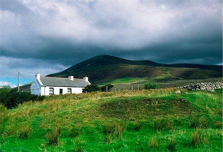 Curraun Peninsula, Co Mayo, Ireland; Traditional Cottage Stock Photo - Rights-Managed, Code: 832-03639817