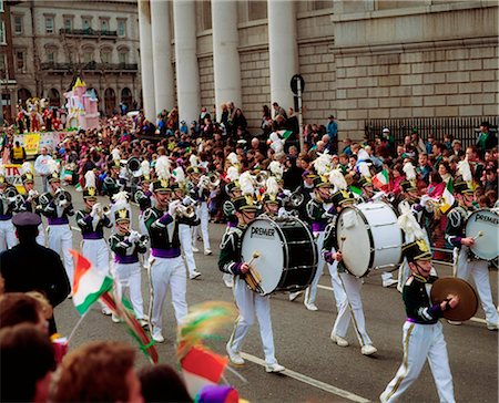 saloon - Marching Band, St. Patrick's Day Parade, College Green, Dublin, Co Dublin, Ireland Stock Photo - Rights-Managed, Code: 832-03639873