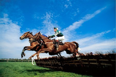 National Hunt Racing; Horses Jumping Over Fences During A Race Stock Photo - Rights-Managed, Code: 832-03640043
