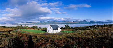 Kenmare Bay, Co Kerry, Ireland, Cottage Stock Photo - Rights-Managed, Code: 832-03640261